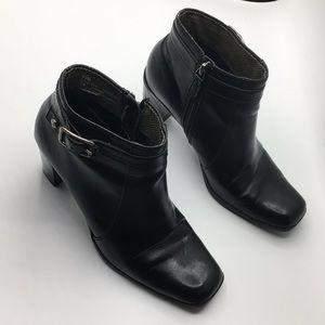 TOMMY HILFIGER Rosette black ankle boots